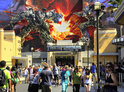 Photograph - Transformers The Ride by Ricky Barnard
