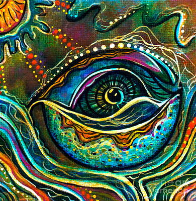 Chakra Painting - Transitional Spirit Eye by Deborha Kerr