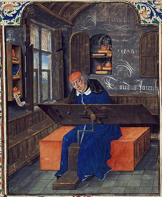 Translator At Work In His Study Art Print