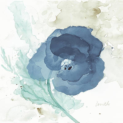 Translucent Painting - Translucent Blue Poppy II by Lanie Loreth