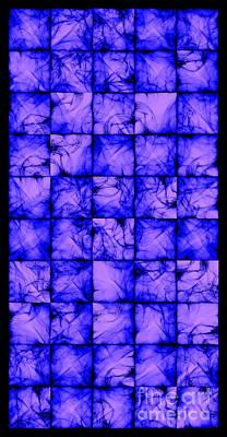 Algorithmic Digital Art - Translucent Blue by Sander Kleynend