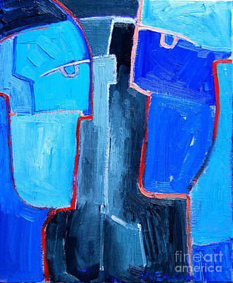 Surrealist Portrait Painting - Translucent Togetherness by Ana Maria Edulescu