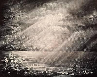 Balck Art Painting - Translucent by Vesna Delevska