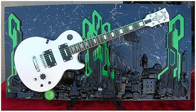Esp Guitars Mixed Media - Transmission by John Hoyt