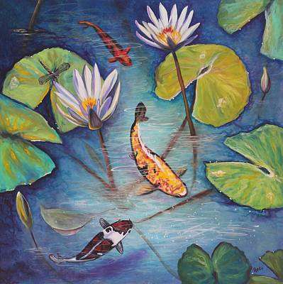 Waterlily Painting - Transparency by Eve  Wheeler