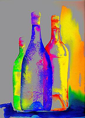 Still Life Royalty-Free and Rights-Managed Images - Transparent Bottles by Joy Bradley