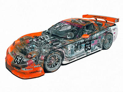 X-ray Image Painting - Transparent Car Concept Made In 3d Graphics 10  by Lanjee Chee