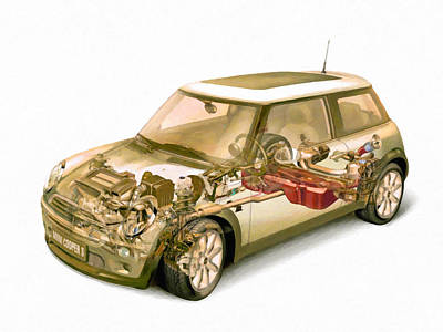 Transparent Car Concept Made In 3d Graphics 5 Art Print