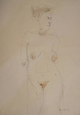 Drawing - Transparent Nude by Esther Newman-Cohen