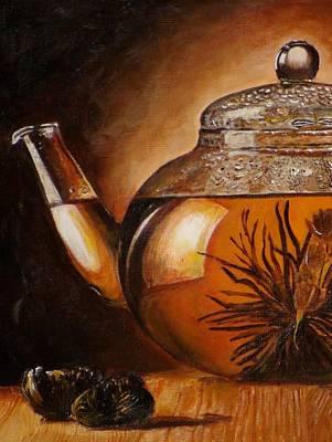 Teapot Painting - Transparent Teapot by Shilpa Adavatkar