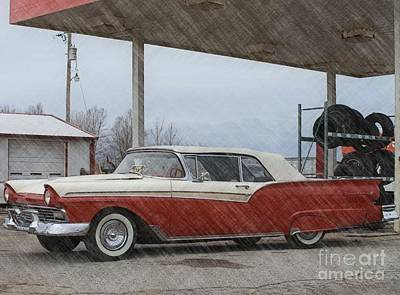 Photograph - Transportation - 1957 Ford Fairlane 500 by Liane Wright