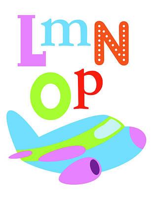Plane Painting - Transportation Lmnop by Tamara Robinson