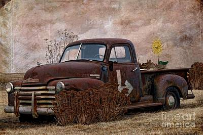 Photograph - Transportation - Rusted Chevrolet 3100 Pickup by Liane Wright