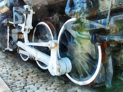Locomotive Photograph - Transportation - Train Wheels by Susan Savad
