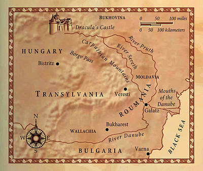 Transylvania Digital Art - Transylvania by Del Gaizo