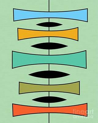 Orange Digital Art - Trapezoids by Donna Mibus