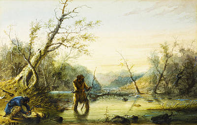 Beaver Digital Art - Trapping Beaver by Alfred Jacob Miller