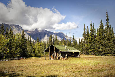 Photograph - Trapping Cabin by Fred Denner