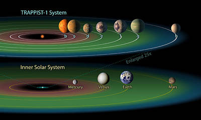 Trappist-1 Habitable Zone Art Print by Science Source