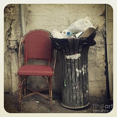 Barcelona Chair Photograph - Trash And Chair Asking Please Take Me Home by Victoria Herrera