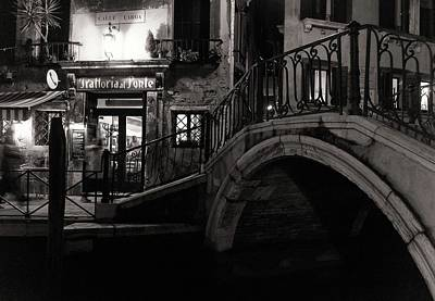 Venice Photograph - Trattoria Al Ponte by Izabella V?gh
