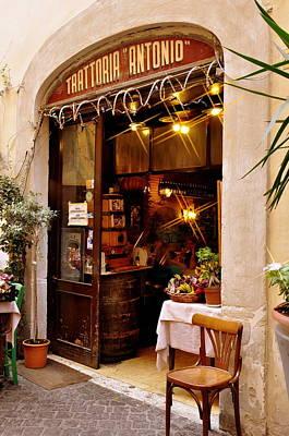 Photograph - Trattoria Antonio Rome by Caroline Stella