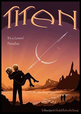 Art Lovers Photograph - Travel Poster Advertising Titan by Mark Garlick