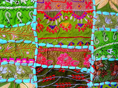 Tapestries Textiles Photograph - Travel Shopping Colorful Tapestry 3 India Rajasthan by Sue Jacobi
