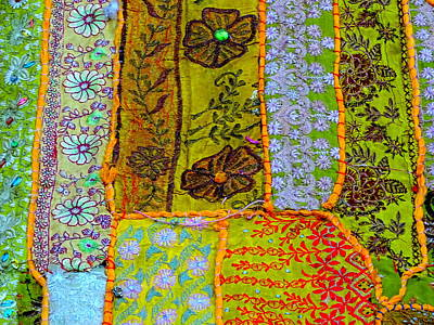 Travel Shopping Colorful Tapestry 4 India Rajasthan Art Print by Sue Jacobi