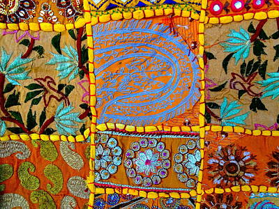 Travel Shopping Colorful Tapestry 9 India Rajasthan Art Print by Sue Jacobi
