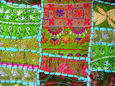 Tapestries Textiles Photograph - Travel Shopping Colorful Tapestry Series 10 India Rajasthan by Sue Jacobi