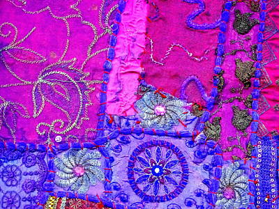 Travel Shopping Colorful Tapestry Series 12 India Rajasthan Art Print by Sue Jacobi