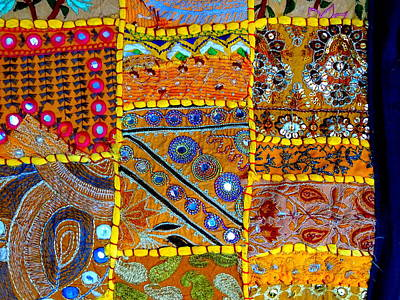 Travel Shopping Colorful Tapestry Series 14 India Rajasthan Art Print by Sue Jacobi