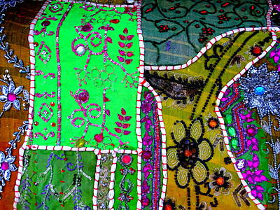 Travel Shopping Colorful Tapestry Series 16 India Rajasthan Art Print by Sue Jacobi