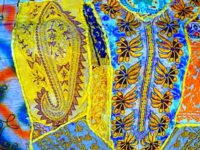 Travel Shopping Colorful Tapestry Series 17 India Rajasthan Art Print by Sue Jacobi