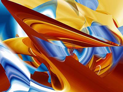 Digital Art - Travel Through Blue by rd Erickson
