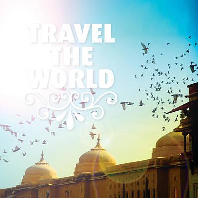 Travel Typography India Art Mix Art Print