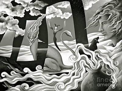 Destiny Painting - Magical Treasure - Monochrome  by Gem S Visionary