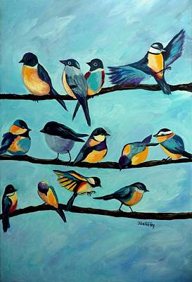 Traveler's Rest - Birds Resting Original by Julie Brugh Riffey