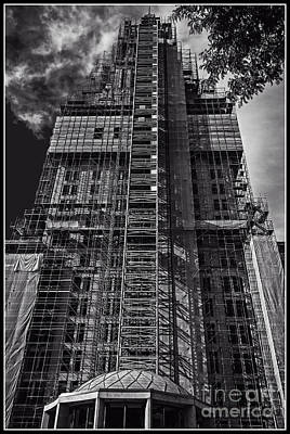 Photograph - Travelers Tower Facelift by Phil Cardamone