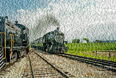 Surrealism Royalty-Free and Rights-Managed Images - Traveling by Rail by Paul W Faust -  Impressions of Light