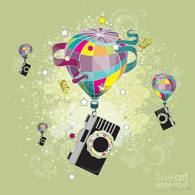 Bright Digital Art - Traveling Camera  by Disko Galerie