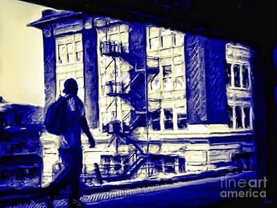 Traveling Man Print by Jeff Breiman