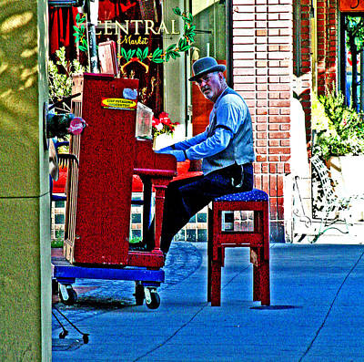 Digital Art - Traveling Piano Player by Joseph Coulombe