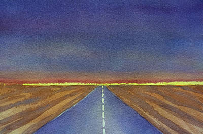 Asphalt Painting - Traveling by Susan Porter