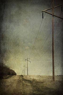 Rural Photograph - Travelled by Larysa  Luciw