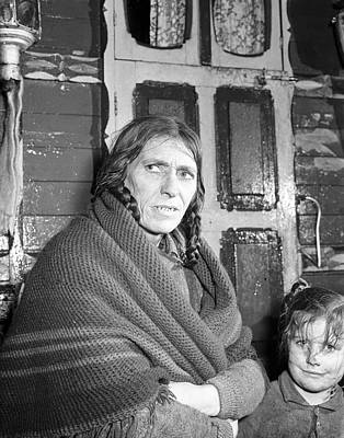 Gypsy Wagon Photograph - Traveller Woman Galway 1957 by Irish Photo Archive