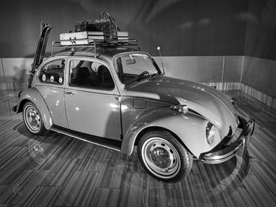 Photograph - Traveller's Super Beetle 001 Bw by Lance Vaughn