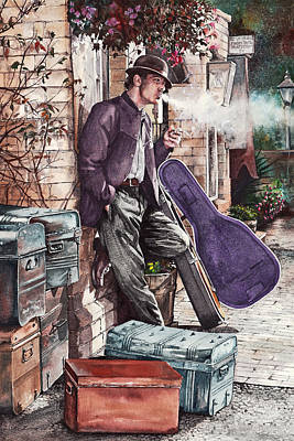 Travelling Man Art Print