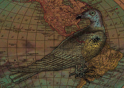Buzzard Digital Art - Travelling With The Buzzard by Sarah Vernon